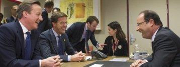 Cameron negocia con Hollande en Bruselas