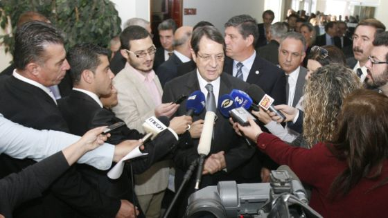 Anastasiadis responde a la prensa el pasado día 29 de marzo