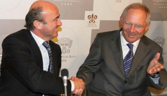 De Guindos y Schäuble.