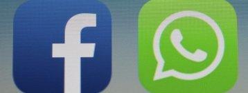 iconos de facebook y whatsapp